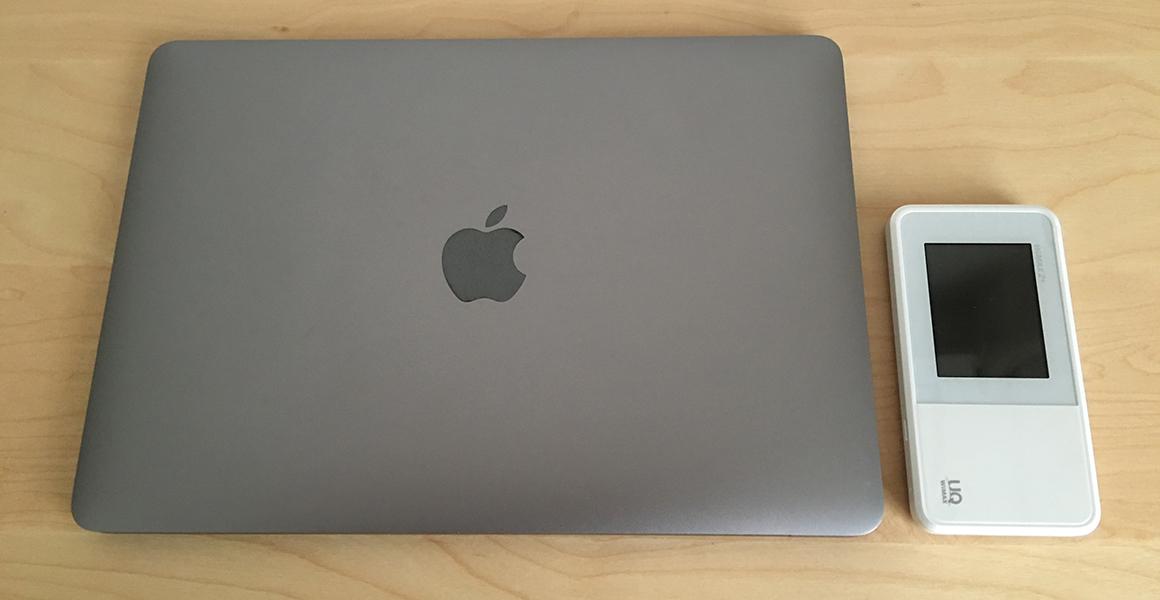 12インチMacBookと並べてみた