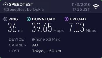 WX05 スピードテスト結果