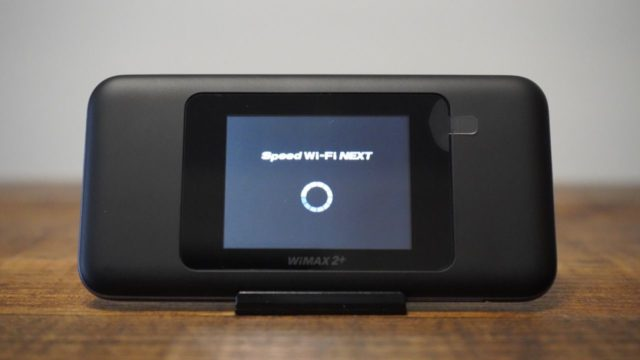 Speed Wi-Fi NEXT W06 起動画面